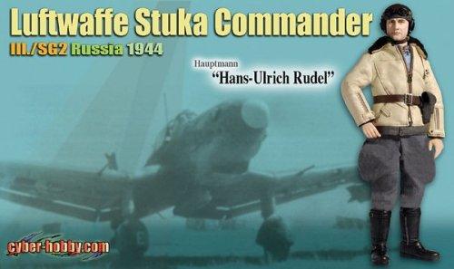 WW2 ドイツ空軍 第2地上攻撃航空団 第3飛行隊本部 Ju-87 スツーカ 飛行隊長 大尉 「ハンス・ウルリッヒ・ルーデル」 ロシア 1944年