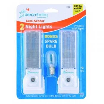 Nite Lights - 2 Auto Sensor Nite Lights With 1 Replacement Bulb