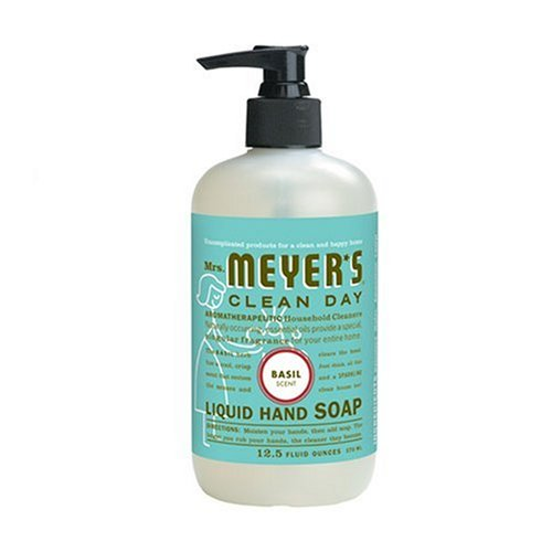 Mrs. Meyer's Clean Day Liquid Hand Soap, Basil, 12.5-Ounce Bottles (Case of 6)