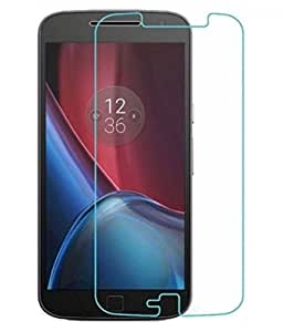 Motorola Moto G4 Plus Compatible Tempered Glass Screen Protector (Antishock, Curved Edged) (Pack of 2, Only Front Transparent) (Combo Offer, get a VJOY 2600 mAh Power-Bank GOLDEN (1 Year Replacement Guarantee, Lithium Polymer Battery, Long Battery-Life) worth Rupee 999/- absolutely free with Screen Protector)