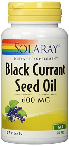Solaray Hexane Free Black Currant Seed Oil, 600 mg, 90 mg GLA, 90 Count