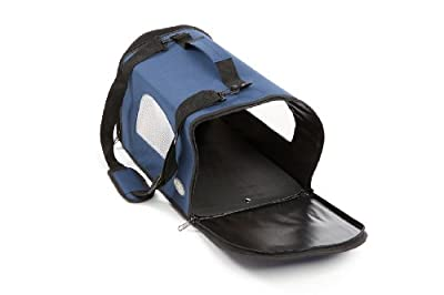 Canvas Pet Dog/Puppy/Cat/Kitten Blue Carrier by Easipet 298Small