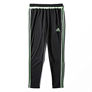adidas Performance Women's Tiro Training Pant, Medium, Black/Flash Green S15/Light Flash Green S15