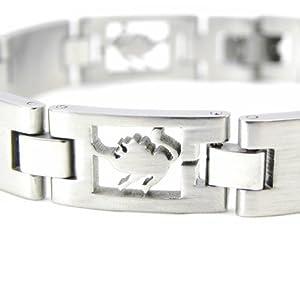 Bracelet steel 'Zodiac' lion.
