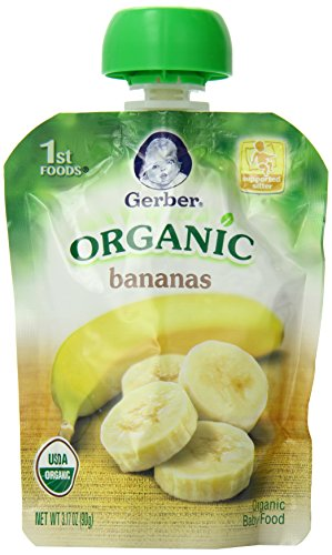 Gerber Organic 1st Foods Bananas, 3.17 Ounce Pouch (Pack of 12) (Banana Baby Food Gerber compare prices)