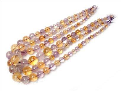 6--16mm Graduated amethyst/citrine beads strand 15