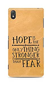 AMEZ hope is the only thing stronger than fear Back Cover For Sony Xperia Z3