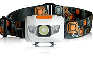 LED Headlamp - Best & Brightest Flashlight - 4 Modes w/Adjustable White CREE, Steady & Flashing Red Lights! For Kids, Running, Camping, Hunting, Fishing, Bike Lights! Adjustable & Waterproof with Batteries Included! 100% Lifetime Guarantee!