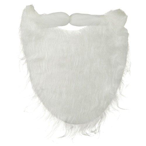 White Full Beard and Mustache Costume Accessory - 1