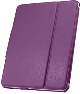 Leather Flip Book Case/Folio for Apple iPad 2, iPad 3 (Purple)