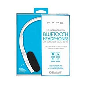 hype slim over ear bluetooth headphones white electronics. Black Bedroom Furniture Sets. Home Design Ideas