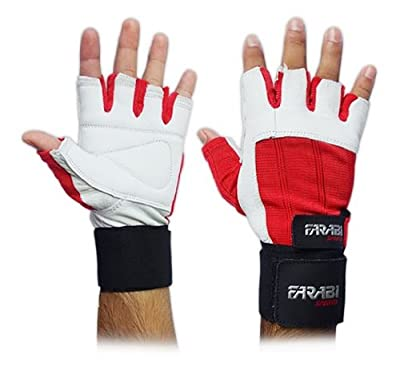 Weight Lifting Gym Training Gloves, Genioun Leather Glove, Free shipping.