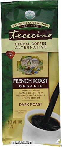 Teeccino Organic Caffeine Free Herbal Coffee, Maya French Roast, 11-Ounce Bags (Pack of 3)