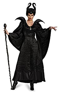 Disguise Women's Disney Maleficent Movie Christening Gown Deluxe Costume, Black, 8-10
