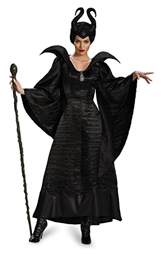 Disguise Women's Disney Maleficent Movie Christening Gown Deluxe Costume, Black, 4-6