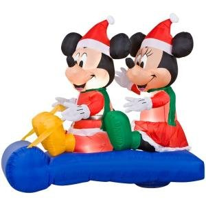 Disney 6 Ft. LED Lighted Mickey and Minnie's Scene Airblown