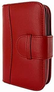 Piel Frama U630R Wallet Ledertasche für Blackberry Q10 rot