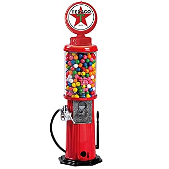 "Carousel Texaco Vintage Gas Pump Gumball Machine Coin Bank 21"" Inch Die Cast Metal Gum Ball Gasoline Service Station MAN CAVE"