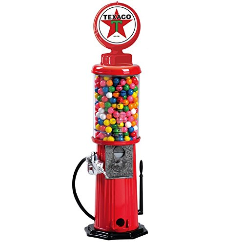 Carousel Texaco Vintage Gas Pump Gumball Machine Coin Bank 21
