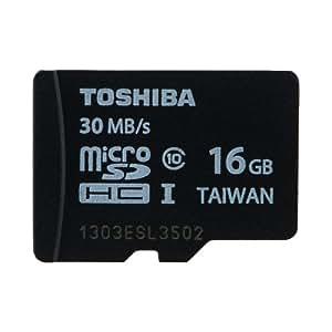 東芝 microSDHC 16GB Class10 30MB/s UHS-I 防水 耐X線 TOSHIBA 海外向けパッケージ品