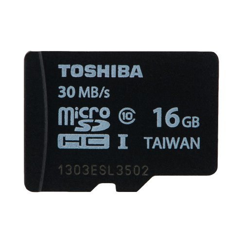 Toshiba Professional 16 GB MicroSDHC Class 10 UHS-1 30MB/s Memory Card (SD-C016GR7WAR30)