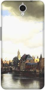 The Racoon Lean View of Delft hard plastic printed back case / cover for Alcatel Onetouch Idol X Plus 6043D