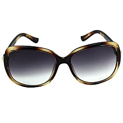 Eyeland Non-Polarized Cateye Sunglasses (Brown, EYE158)