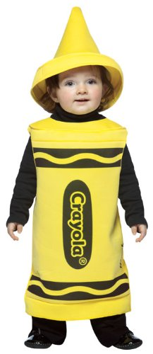 Rasta Imposta Crayola Toddler Costume, Yellow, 18-24 Months