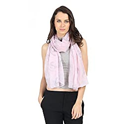 FabSeasons Pink Anchor Printed Unisex Scarf, Scarves, Stole and Shawl for Men & Women