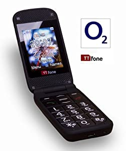 TTfone Venus TT700 - O2 Pay As You Go - Big Button Flip Mobile Phone - Easy to Use Simple - Camera - Full Colour Screen - FM Radio - SOS Button - Prepay - PAYG