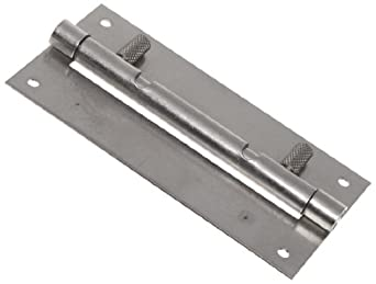 "Guden Stainless Steel 18-8 Spring Release Hinge with Two Holes, 4"" x 1"", 0.250"" Pin Diameter 0.050"" Thickness"