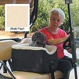 Snoozer Lookout Pet Golf Cart Seat, Large, Khaki Vinyl