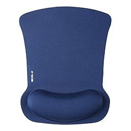 Antifatigue Comfort Foam Black Wave Rest Mice Pad Pro-Fit Mousepad for Optical Mouse(BLUE)