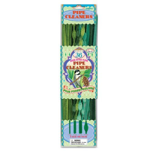 36 Pipes Per Pack - eeBoo Pipe Cleaners - Pine Forest Colors