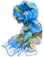 Women's Multi Function 100% Pure Silk Butterfly Scarf/Headwear/Tested by leading authority