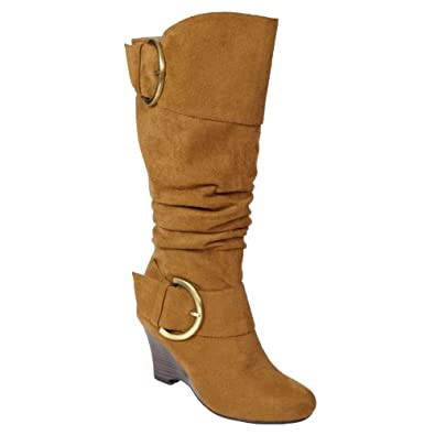 Glaze by Adi Faux Suede Buckle Accent Tall Boot