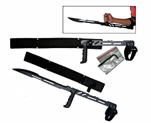 "27.5"" Large Blood Rayne Ninja Forearm Vampire Zombie Machete Sword"