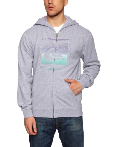 Quiksilver Base Line Hoodie Men's Sweatshirt Light Grey Heat X-Large