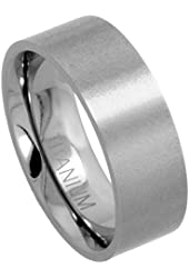 Titanium Wedding Ring 5 mm Thumb Flat Plain Comfort-Fit Brushed finish, sizes 8 - 15