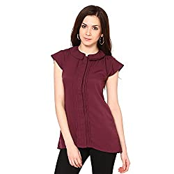Westhreads Women's Polyester Top (Maroon)
