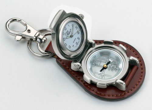 Pocket watches outdoor clip watch with compass brown stainless steel for Watches with compass