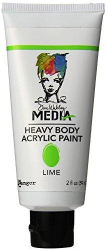 Ranger Dina Wakley Media Heavy Body Acrylic Paint, 2-Ounce, Lime (Dina Wakley Paint compare prices)