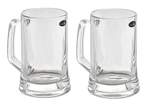 Amlong Crystal Lead Free Beer Mug - 14 oz, Set of 2 (Beer Mug Glass compare prices)
