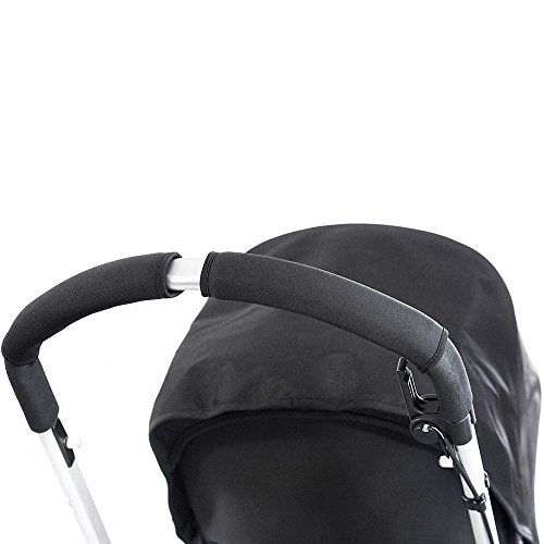 Choopie CityGrips Single Bar Grip Handle Covers for Stroller/Pram/Buggy Handlebars, Just Black, Large
