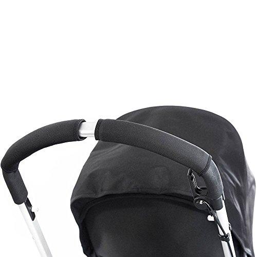 Choopie CityGrips Single Bar Grip Handle Covers for Stroller/Pram/Buggy Handlebars, Just Black, Large