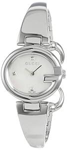 (疯狂)古琦Gucci YA134504 Guccissima瑞士造真钻手镯腕表折后仅$416.5