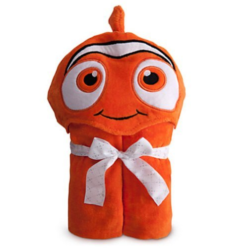 Disney Finding Nemo Hooded Towel For Baby Toddlers Girls Boys