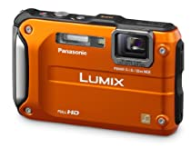 Panasonic Lumix DMC-TS3 12.1 MP Rugged/Waterproof Digital Camera with 4.6x Wide Angle Optical Image Stabilized Zoom and 2.7-Inch LCD (Orange)