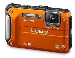 Panasonic Lumix DMC-TS3 12.1 MP Rugged/Waterproof Digital Camera with 4.6x Wide Angle Optical Image Stabilized Zoom and 2.7-Inch LCD (Orange)