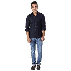 Regza Men's Formal Shirt (RZA_Blue_40)